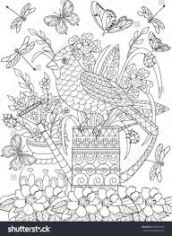 coloring page bird stock vector 568409410 shutterstock