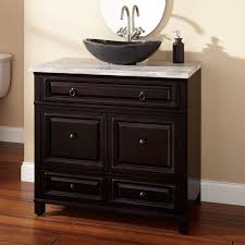 Amazing Bathroom Vanities With Vessel Sinks Inspiration Home Designs - Black bathroom vanity with vessel sink
