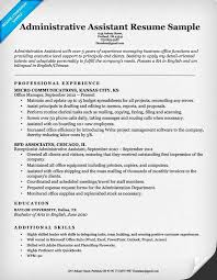 Sample Resume For Admin Assistant by Cv Examples For Executive Assistant