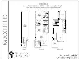 Central Park Floor Plan by Maxfield Central Park West Irvine Lofts And Townhomes For Sale
