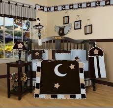geenny blue brown moon u0026 star 13pcs crib bedding set