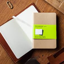 personalised leather bound moleskine cahier journal by tanner
