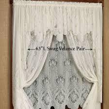 vanessa lace long swag valance window treatment