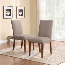 furniture soft brown leather parsons chairs for minimalist dining
