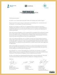 Examples Of Bad Business Letters the overhead myth moving toward an overhead solution