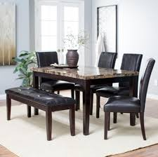 furniture fashionable dining table set with bench also wood fashionable dining table set with bench also wood framed long mirror and plates decoration