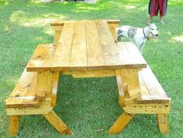 Free Wooden Picnic Table Plans by Best 25 Folding Picnic Table Ideas On Pinterest Outdoor Picnic