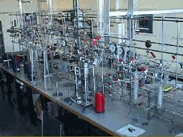 Benzene synthesis system  Radiation physics and radiocarbon laboratories  Copywright University College  Dublin