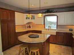 simple brown wood kitchen island stylist gold and yellow island