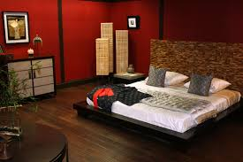 Bedroom Interiors Smart Ideas Of Asian Bedroom Decor With Large Wooden Bed Also Good
