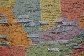 Ohio Kentucky Map by More Middle Of The Country Map Pins Loving Here