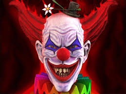 funny scary clown wallpapers 1024x768px 3d evil jester wallpaper