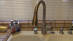 Kitchen Sink With Faucet Set Satin Wall Mount Three Hole Kitchen Faucet Single Handle Pull Out