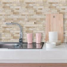 Peel And Stick Backsplash Tile Stick And Peel Backsplash Fancy - Peel on backsplash