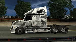 680 volvo truck vnl 670 urban camo skin for euro truck simulator 2