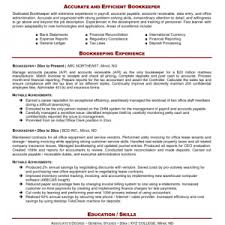Sample Bookkeeping Resume bookkeeper resume with quickbooks experience bookkeeping resume