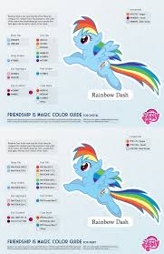 Best Color Codes Rainbow Dash Color Guide 2 0 Updated By Kefkafloyd On Deviantart