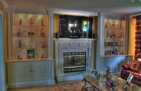 Wall Unit Fireplace Mantel Eclectic Family Room New York - Family room wall units