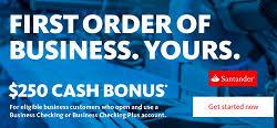 Santander Business Debit Card Santander Bank Business Account Promotion 250 Bonus Nationwide