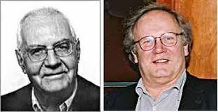 Markus Kutter ✝ links (Foto: LDP, Basel) und Verleger Matthyas Jenny, rechts. CALVI/KORSIKA (F). - 1122491649