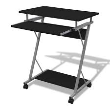 Computer Desks Black by Computer Desk Pull Out Tray Black Furniture Office Student Table