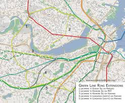 T Boston Map by Green Line Ring Lines West These Are 5 Possible Extensions U2026 Flickr