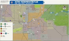 Map Az Active Transportation Plan Maricopa County Az
