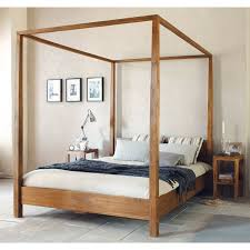 four poster bed light brown king size the yellow door store