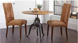 rustic solid adjustable dining table with crank 2 chair manassas