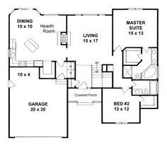 Ranch Style House Plans With Basement by One Story House Plans 1500 Square Feet 2 Bedroom 1500 Sq Ft
