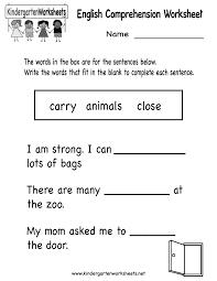 free thanksgiving reading worksheets english comprehension worksheet free kindergarten english