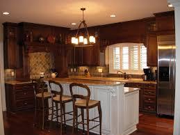 Kitchen Cabinets Mahogany Kitchen Simple And Neat Kitchen Decoration Using Various Kitchen