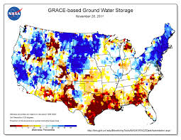 Color Coded Map Of Usa by Texas Drought Visible In New National Groundwater Maps Nasa