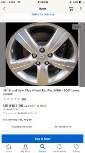 lexus spyder wheels for sale your honest opinion on refurbished lexus gs wheels clublexus