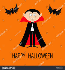 vampire fangs spirit halloween count dracula wearing black red cape stock vector 469211942