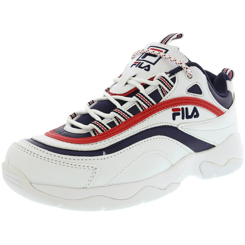 Fila Ray White / Navy Red Ankle-High Sneaker 13M