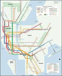 Subway Nyc Map by Subway Map Enthusiast Creates A More Geographically Correct