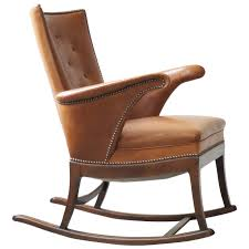 Wingback Rocking Chair 1930s Rocking Chair By Frits Henningsen For Sale At 1stdibs