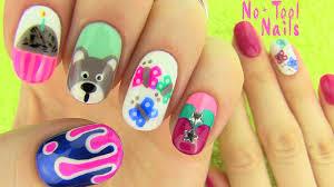 nails without nail art tools 5 nail art designs youtube