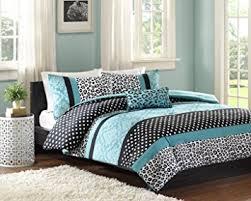 Bed Comforter Sets For Teenage Girls by Amazon Com Comforter Bed Set Teen Bedding Modern Teal Black