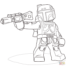 lego star wars boba fett coloring page free printable coloring pages