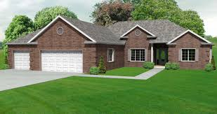 ranch house plans with 3 car garage great craftsman ranch home