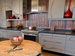 Rustic Kitchen Backsplash Corrugated Metal Backsplash Kitchen Rustic With Wood Cabinets Rustic