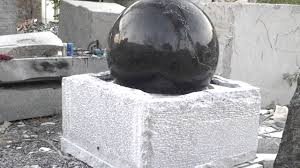 Gazing Ball Fountain Granite Globe Fountain Globe Water Feature Garden Globe Fountain