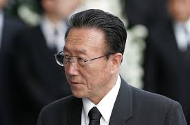 North Korean senior party official and Director of the United Front Department (UFD), an intelligence agency under the Korean Worker's Party, Kim Yang-Gon ... - North Korean Officials Mourn Kim Dae jung ENjI5JtPJkCl