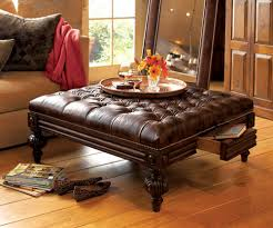 living room leather ottomans amp coffee table storage ottomans