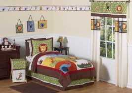 Monkey Crib Set Brown Green Jungle Safari Animal Boys Bedding Twin Full Queen
