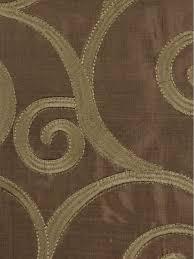 rainbow embroidered scroll goblet dupioni silk curtains