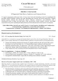 Assistant Technical Project Manager Resume Example with Work