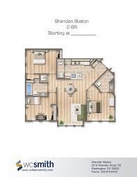 2 bedroom 2 bath floor plan the oaks in southeast washington dc